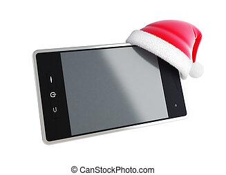 touch phone santa hat