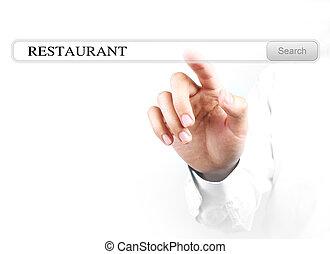 Touch restaurant search bar