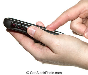cell phone - touch screen cell phone with hands
