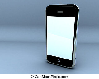 Touch screen cellphone. - render of a touch screen...