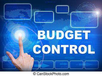 Touch screen digital interface of budget control concept