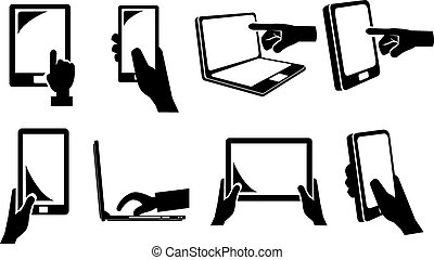 Touch Screen Electronic Devices Icon
