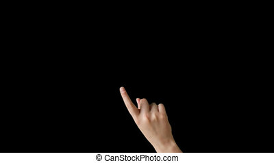 Touch Screen Finger Gesture by hand - Male Finger Multiple...