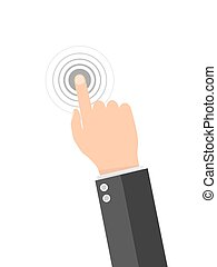 Touch screen finger icon. Vector illustration