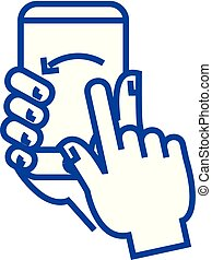 Touch screen gesture line icon concept. Touch screen gesture...