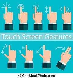 Touch Screen Gestures. Vector illustration in eps10