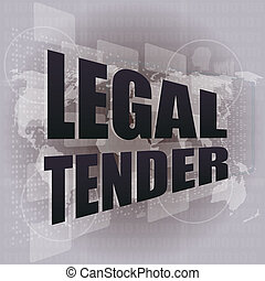 touch screen interface legal tender - touch screen interface...