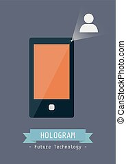 hologram technology - touch screen mobile phone with...