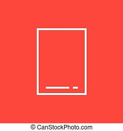 Touch screen tablet line icon.