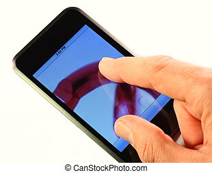 Touch screen technology - Mobile electronic device with...