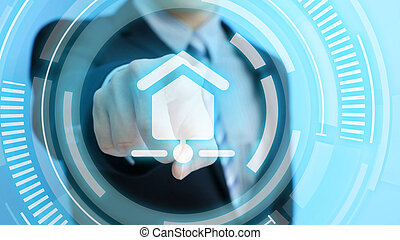 touch smart home icon