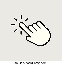 Touch vector icon. Illustration isolated for graphic and web design
