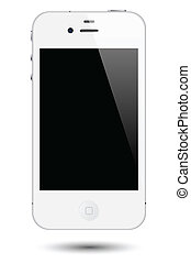 toucha, smartphone, vektor, avskärma