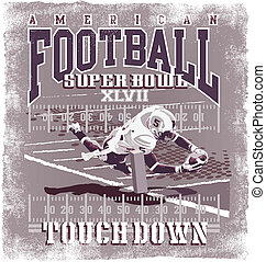 Touchdown American Football - football sport vector for...