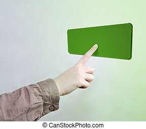 Touched Green Button