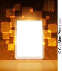toucher, lcd, écran, tablette