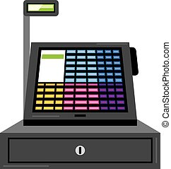 toucher, registre, espèces, écran