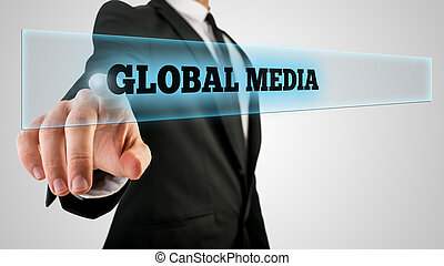 Touching a Global media button