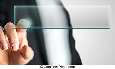 Touching responsive futuristic interface