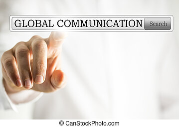 Touching the search bar looking for communication