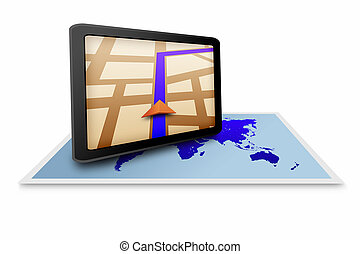 Touchpad gps