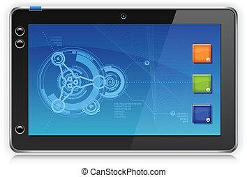touchpad, informatique, portable, tablette