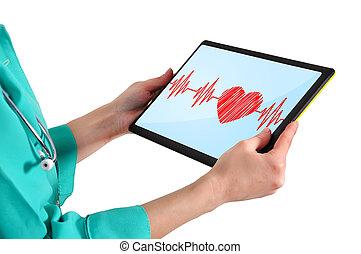 touchpad, läkare