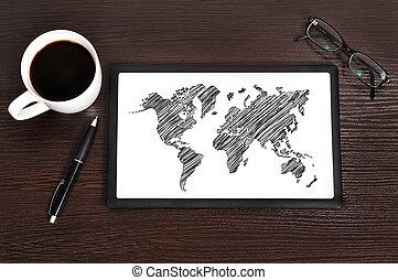 touchpad, mapa