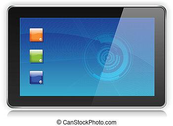 touchpad, ordinateur pc, ou, tablette