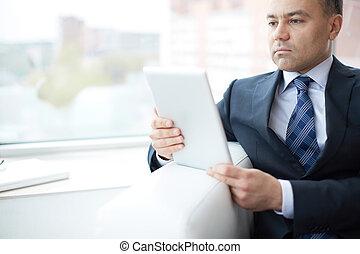 touchpad, pracujący