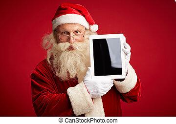 touchpad, santa