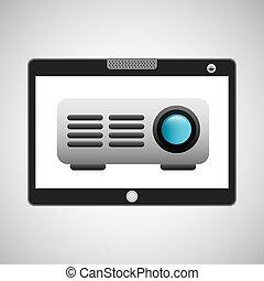 touchpad, viga, sem fios, vídeo, digital