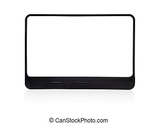 touchpad with empty screen on white background