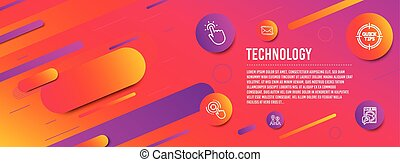 Touchpoint, Seo target and Messenger mail icons set. Tips, Ab testing and Washing machine signs. Vector