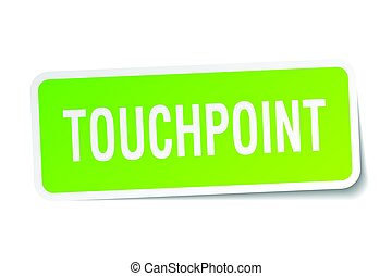 touchpoint square sticker on white