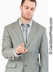 touchscreen, χρησιμοποιώνταs , ακαταλαβίστικος , επιχειρηματίας , νέος