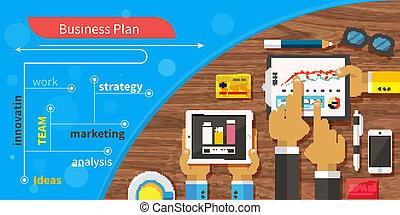 touchscreen, プレゼンテーション, 計画, ビジネス戦略