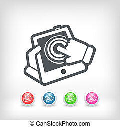 Touchscreen action icon