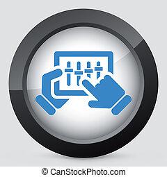 touchscreen, batidora, icono