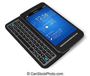 touchscreen, côté, smartphone, glisseur