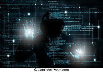 touchscreen, changer, pirate informatique, logiciel, par