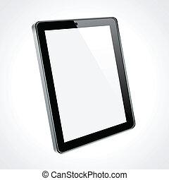 touchscreen, concept., tableta