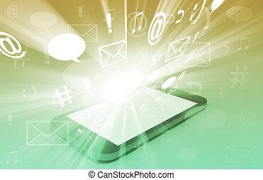 touchscreen, downloading, apps, chmura, obliczanie