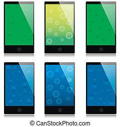 touchscreen, ensemble, smartphones