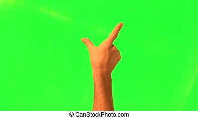 touchscreen, gesti, -, maschio, mano