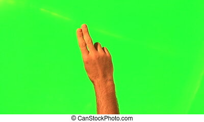 Touchscreen gestures - male hand