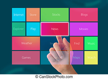 touchscreen, határfelület