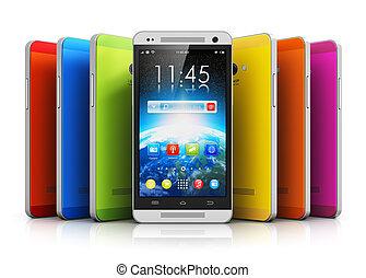 touchscreen, moderne, smartphones