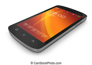 touchscreen, moderno, smartphone.