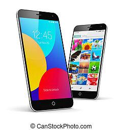 touchscreen, moderno, smartphones